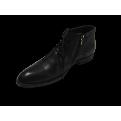 579719 Ботинки мужские Легре ( черный, кожа)