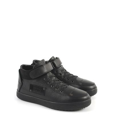 168-033-3SBW Ботинки мужские (черный,кожа,мех)