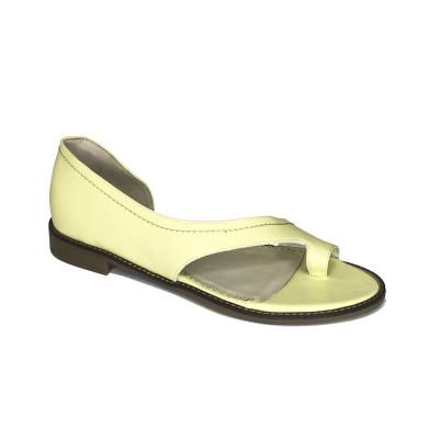2511 Босоножки женские (желтый, кожа)