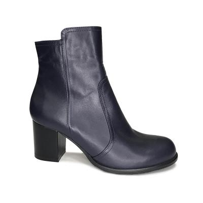 2034 ботинки женские (синий/кожа)