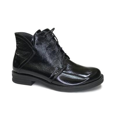 2427 ботинки женские (черный/наплак)
