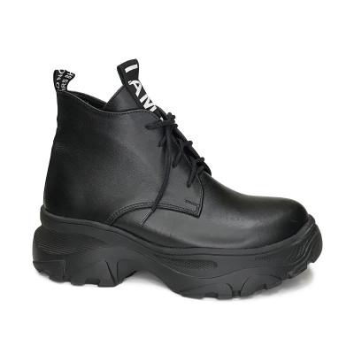 2440 ботинки женские (черный/кожа)