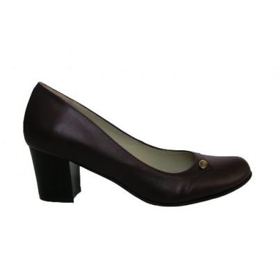 1592 туфли женские (коричневый, кожа)