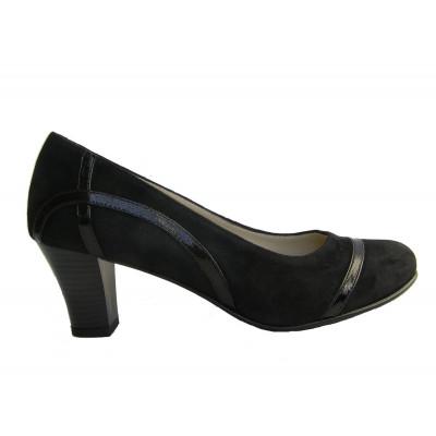 1931 туфли женские (черный, велюр)