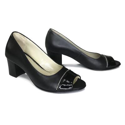 2337 Туфли женские (черный, кожа)