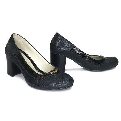 2356  Туфли женские (черный, лазер)