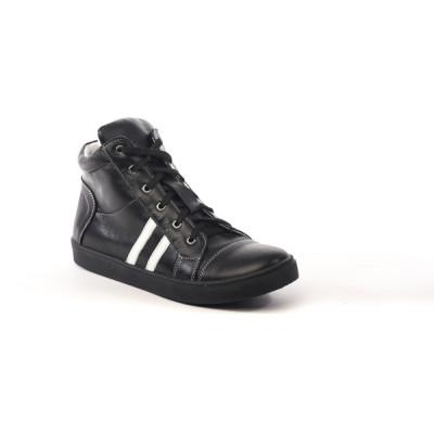 1108-03 ботинки детские (черный, кожа)
