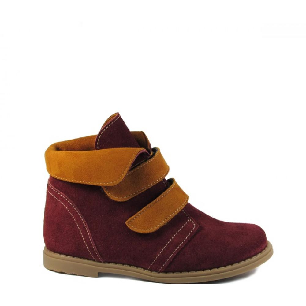 1443-01 ботинки детские (бордо, велюр)