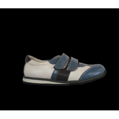 1537-02 туфли детские (белый/голубой, кожа)