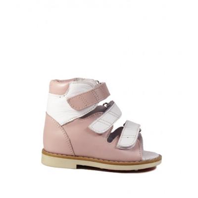1399-01 сандалии детские орто/профил (розовый, кожа)