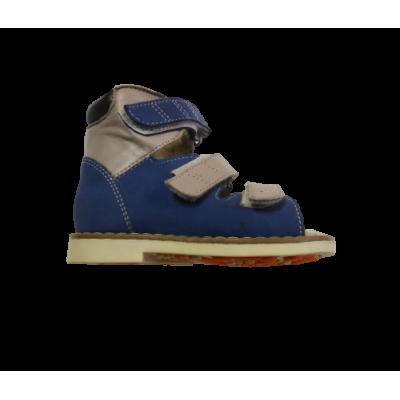 1399-01 сандалии детские орто/профил (голубой, кожа)