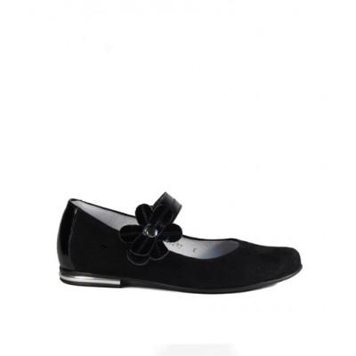 1432-01 туфли детские (черный, велюр)