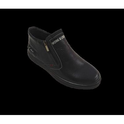 7244 Ботинки мужские Сайрус (черный,кожа)