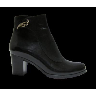 2035 ботинки женские (черный/кожа)