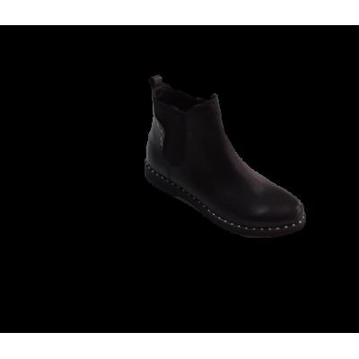 2451 ботинки женские (черный/кожа)