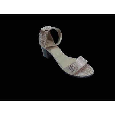 2327 Босоножки женские (золотистый, кожа)